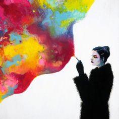 Contentment, Smoking by Joshua Petker