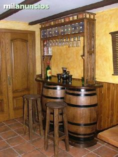 "Check out our site for additional details on ""bar furniture cabinet"". It is actually a great area for more information. Wine Barrel Garden, Wine Barrel Table, Wine Barrel Furniture, Bar Furniture, Table Baril, Whiskey Barrel Sink, Barra Bar, Barris, Barrel Projects"