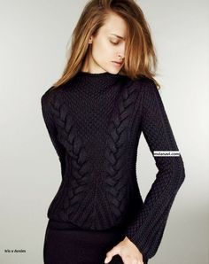 Модный пуловер спицами от Iris von Arnim