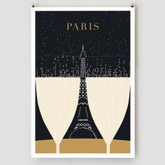 Champagne, Eiffel Tower Print, $20, now featured on Fab.