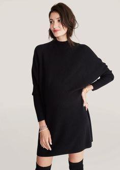 Maternity Sweater Dress, Winter Maternity Outfits, Knit Sweater Dress, Maternity Wear, Maternity Dresses, Maternity Style, Types Of Dresses, Short Dresses, Nursing Friendly Dress