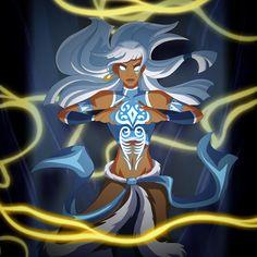 Kida from Atlantis as Avatar Korra. Oh, and she kinda looks like Storm form X-men