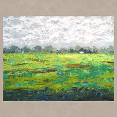Cottage Farm Field, 24x30, acrylic