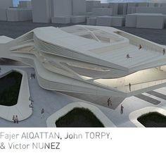 Image result for roland snooks cantilever Parametric Architecture, Futuristic Architecture, Concept Architecture, Amazing Architecture, Contemporary Architecture, Architecture Design, Parking Building, Public Space Design, Arch Model