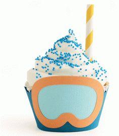 Silhouette Design Store - View Design #84227: snorkel cupcake wrapper