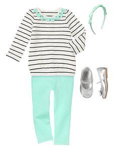 I love Gymboree. #mint #stripes