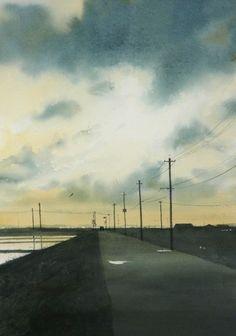 秋の水彩画帖 Autumn - あべとしゆき水彩画ギャラリー Abe Toshiyuki Watercolor Web Gallery