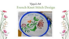 Hand Embroidery Designs - French Knot Stitch Design