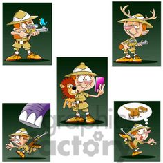 Leo the cartoon safari character clip art image #cartoon #character #sets #mascots #characters #vector #royalty-free #commercial #images #graphics