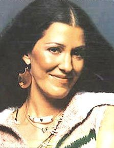 Rita Coolidge, saw her with Kris Krisofferson, whom she was married to at the time.