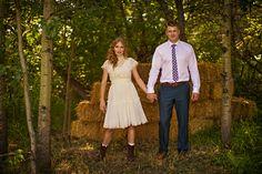 edmonton bohemian/country backyard wedding. {amy + matt} hay bails.
