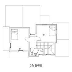 아내의 건강 회복을 위해 지은 천안 프로방스 주택 : 네이버 포스트 Tiny House, Floor Plans, Tiny Houses, Floor Plan Drawing, House Floor Plans