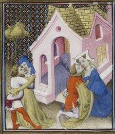 Giovanni Boccaccio, De Claris mulieribus; Paris Bibliothèque nationale de France MSS Français 598; French; 1403, 97r. http://www.europeanaregia.eu/en/manuscripts/paris-bibliotheque-nationale-france-mss-francais-598/en