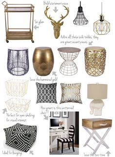 house of hire: Walmart Scores. fun inexpensive home decor that could be used anywhere in your home. Click to read more, or pin and save for later!