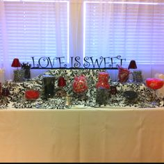Wedding favor candy table