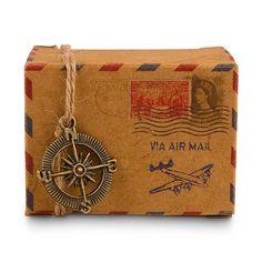 Vintage Inspired Airmail Favor Box Kit - Weddingstar