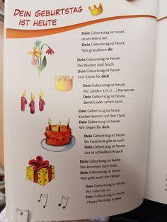 Dein Geburtstag ist heute #Gedicht #kita #kindergarten #erzieher #erzieherin #kinderlied