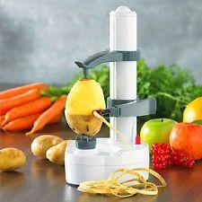 Automatic Electric Fruit Apple Pear Potato Peeler Cutter Slicer Kitchen Utensil