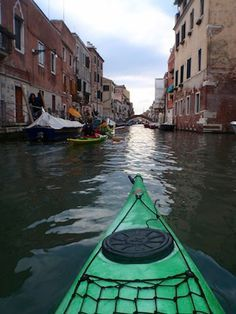 Kayaking through Venice (forget the gondolas)!