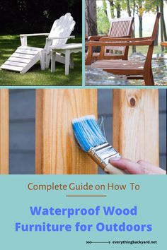 Want to learn how to waterproof your wood furniture? You're in luck! Here in this guide, we'll reveal everything you need to know about how to waterproof wood furniture for the outdoors. Take a look at these handy tips and be sure to give them a try! Painting Outdoor Wood Furniture, Wood Patio Furniture, Painting On Wood, Small Front Yards, How To Waterproof Wood, Diy Wood Stain, Wooden Garden, Handy Tips, Backyard Ideas