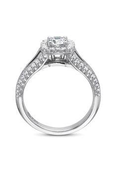 Precision Set 18kwg Split Shank .63ct I/VS2 Diamond Ring   Oster Jewelers