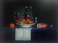 Stilleven met fruit en Cola Steef Bongers. .