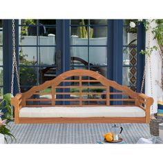 Belham Living Kimbro Lutyens Outdoor Porch Swing with Cushion