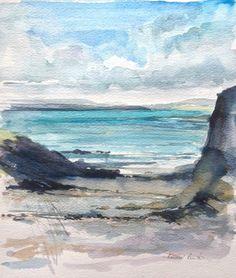 Original Watercolour Painting - Seaside - Signed Annabel Burton