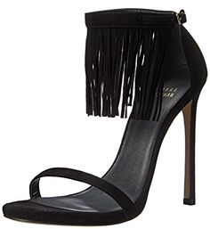 Stuart Weitzman Womens Lovefringe Dress Sandal Black 10 M US ** Details can be found by clicking on the image.