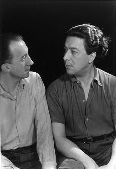 Man Ray (Emmanuel Radnitzky) - Paul Eluard y André Breton . Man Ray, Photo B, Man Photo, Andre Breton, My Favorite Music, Portrait Photographers, The Past, Poetry, Shit Happens