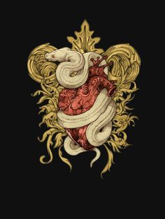 Gilded Snake T-Shirt by Squishysquid fitnees inspiration Purple Aesthetic, Aesthetic Art, Snake Wallpaper, Snake Art, Illustration Vector, Snake Tattoo, Graphic, Dark Art, Body Art Tattoos