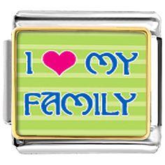 Italian Charms - i heart my family italian charm bracelet Image.