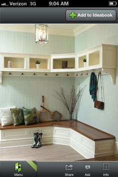 Furniture, Wooden Corner Mudroom Design With Bench Seat Drawer Shoe Storage Clothing Hooks And Cabinet Without Door Ideas: 60 Appealing Mudroom and Hallway Storage Ideas to Apply Muebles Living, Hallway Storage, Entryway Bench, Mudroom Benches, Mudroom Cubbies, Mudroom Cabinets, Corner Cabinets, Stock Cabinets, Entryway Furniture