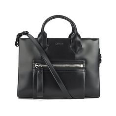 HUGO Women's Valentine Shopper Bag - Black ($515) ❤ liked on Polyvore featuring bags, handbags, tote bags, leather purse, zippered tote bag, leather tote shopper, black leather shopper and genuine leather tote