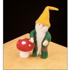 Gnome Needle Felting Kit from Bella Luna Toys. Perfect for an Autumn nature table! $19.95