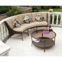 Around the fire Pit- $399 Walmart-Savannah Metal and Woven Deep Seating Outdoor Sectional Sofa Set, Seats 3