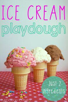 Ice Cream Playdough Recipe - Playdough To Plato