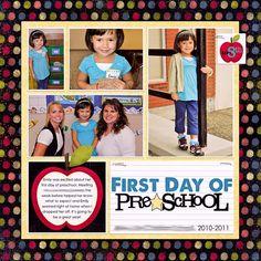 scrapbook layouts preschool | using digital scrapbooking templates