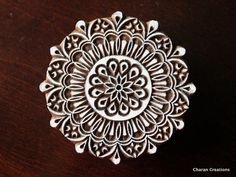 Pottery Stamps, Indian Wood Stamp, Textile Stamp, Wood Blocks, Tjaps, Printing Stamp- Large Mandala