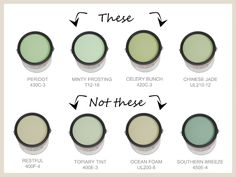 """Nursery Colors to Avoid. Author says too muted not great because babies want """"vivid clean tones that are interesting and invigorating."""" lol but the colors are pretty"""
