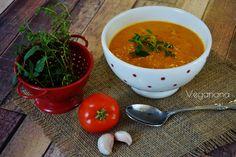 Sopa Cremosa de Tomate Assado com Alho