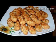 Αλμυρά κουλουράκια πεντανόστιμα! - YouTube Cookie Bars, Shrimp, Cookies, Meat, Food, Youtube, Biscuits, Essen, Cookie Recipes