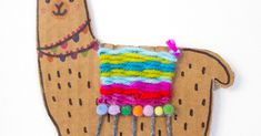 Blog about Easy and Fun Kid Art and Crafts Activities Craft Activities For Kids, Projects For Kids, Crafts For Kids, Arts And Crafts, Llamas, Weaving For Kids, Weaving Projects, Art Lessons Elementary, Art For Kids