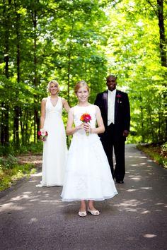Family wedding photo in the Shade Garden at Frederik Meijer Gardens. Grand Rapids Weddings [Emily Rae Photography]