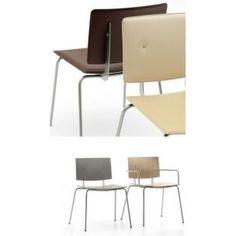 Silla para la cocina modelo Don de Ondarreta con asiento y respaldo en laminado fenólico de alta presión o tapizados, disponibles en múltiples acabados. http://nccocinaybano.com