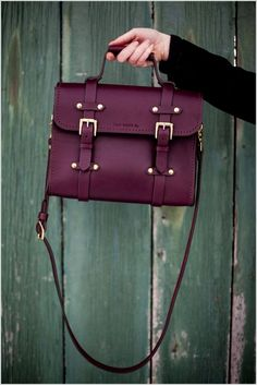 A Marsala Messenger Bag Style Satchel