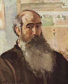 Camille Pissarro (Fr, - Self-portrait - 1873 - oil on canvas x 46 cm - Musée d'Orsay, Paris Paul Cezanne, Pierre Auguste Renoir, Claude Monet, Impressionist Paintings, Landscape Paintings, Camille Pissarro Paintings, Mary Cassatt, Edgar Degas, Post Impressionism