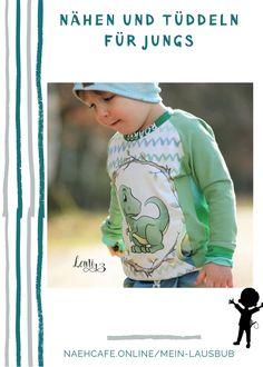 Yeah - Bauchtachen-Alarm! It's cool! Mit diesem Schnittmuster macht  Nähen für Jungs macht einfach Spaß! Das Raglanshirt ist einfach zu nähen  – auch für Anfänger toll geeignet. Mein Lausbub – Schnittmuster für  Jungs Raglan, Graphic Sweatshirt, Sweatshirts, Sweaters, Fashion, Fanny Pack, Tops, Sewing Patterns, Tutorials