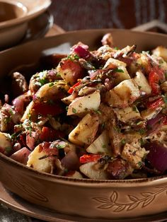Davids Grilled Potato Salad -- tasty side dish for #picnics & #bbqs