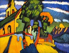 Reproduction Painting Wassily Kandinsky Village Church, Hand-Painted Reproductions Art Oil On Canvas Art Kandinsky, Wassily Kandinsky Paintings, Oil Painting Reproductions, Art Moderne, Art Abstrait, Oil Painting Abstract, Matisse, Art And Architecture, Oeuvre D'art